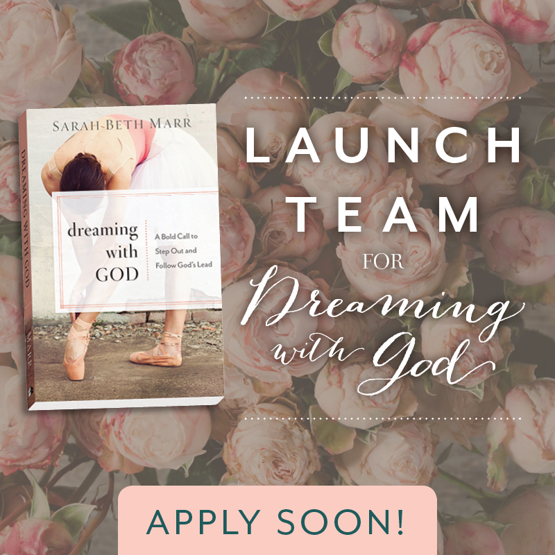 DREAMING WITH GOD BOOK LAUNCH TEAM