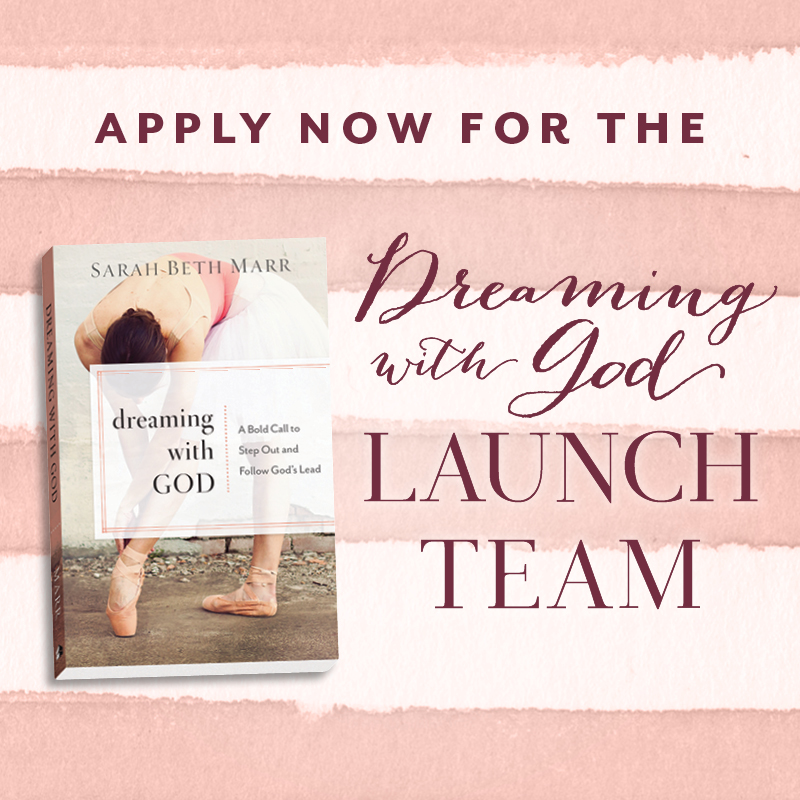 APPLY NOW FOR THE BOOK LAUNCH TEAM!